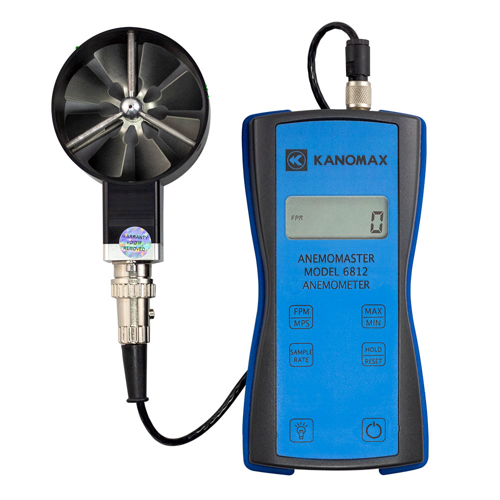 Kanomax Rotating Vane Anemometer - Model 6812