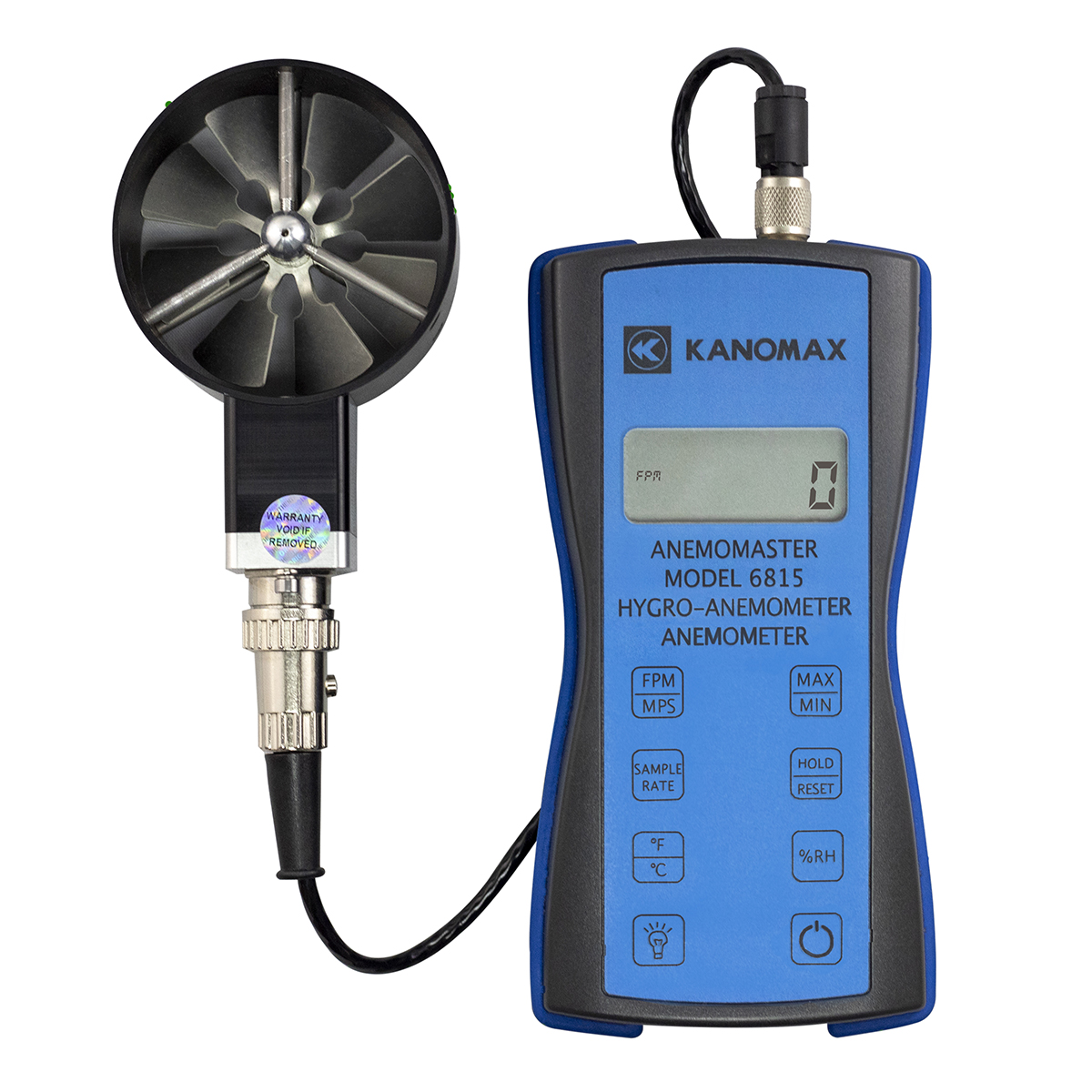 Kanomax Rotating Vane Anemometer - Model 6815
