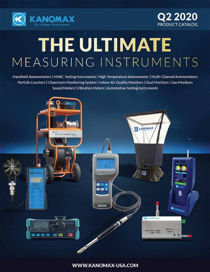 Kanomax USA Product Catalog Cover - Q2 2020