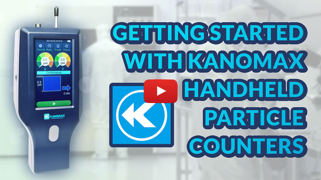 How to Use Kanomax Handheld Particle Counters Image